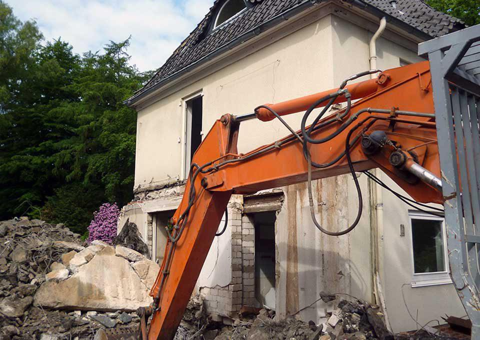 Abbrucharbeiten Hamburg-Sülldorf