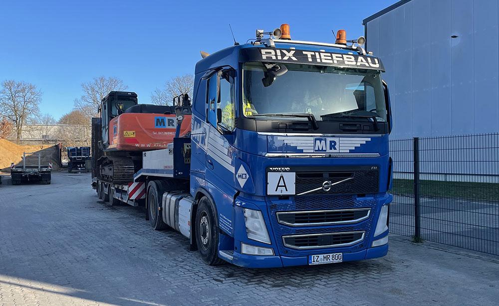 Rix Tiefbau - unser Maschinen- und Fahrzeugpark
